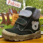 Falcon bundás gyerekcipő, sötétkék-farmerkék, macis, 19-26.