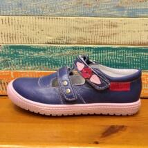Falcon nyitott bőrcipő, kék, leveles, 29, 30.