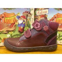 Falcon átmeneti bőrcipő két tépőzárral, bordó-lila, 27-31.