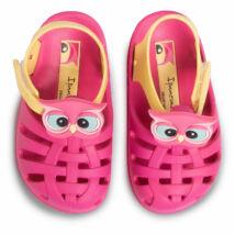 Ipanema Summer VI Baby szandál, pink-sárga, baglyos, 21-28/29.