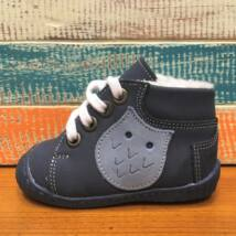 Maus bundás első lépés cipő, sötétkék, baglyos.