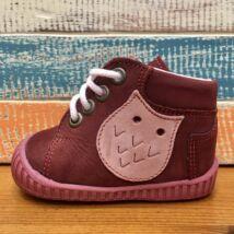 Maus első lépés cipő, bordó, baglyos, 16.