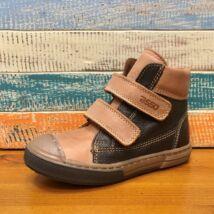 ASSO bőr gyerekcipő két tépőzárral, bőr béléssel, barna, 26, 30.
