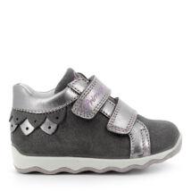 Primigi átmeneti bőrcipő két tépőzárral, szürke-ezüst, 19-24.