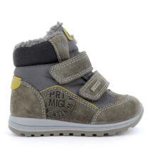 Primigi Gore-tex vízálló bundás gyerekcipő, khaki-szürke, 21-26.