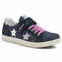 Primigi átmeneti bőrcipő tépőzárral és elasztikus fűzővel, navy-pink, csillagos, 27-33.