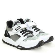 Primigi - Michelin sportcipő elasztikus fűzővel és tépőzárral, fekete-fehér-szürke, 28-35.