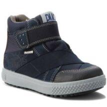 Primigi Gore-tex átmeneti bőrcipő, teljesen vízálló; tépőzáras, sötétkék, 27-30.