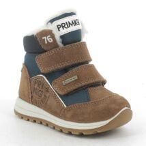 Primigi Gore-tex vízálló bundás cipő, barna-acélkék, 21, 22, 23, 24, 25, 26.