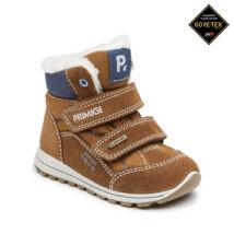 Primigi Gore-tex vízálló bundás gyerekcipő; barna-kék, 20-27.