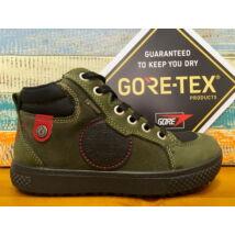 Primigi Gore-tex téli-átmeneti bőrcipő, teljesen vízálló, fűzős, oldalán cipzárral, zöld-fekete, 30-35.
