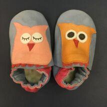 Baglyok, puhatalpú cipő, kék, 18-19.