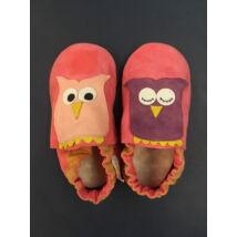 Baglyok, puhatalpú cipő, pink.