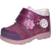 Szamos supinált átmeneti cipő bőr béléssel, lila, katicás, 21-24.