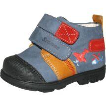 Szamos supinált átmeneti bőrcipő, kék-barna-piros, 21, 22.