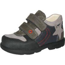 Szamos supinált átmeneti bőrcipő, szürke-antracit, 33, 34.