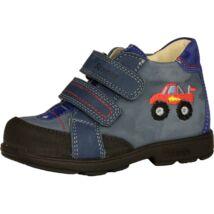Szamos supinált átmeneti bőrcipő, kék, terepjárós, 25-30.