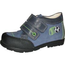 Szamos supinált gyerekcipő bőr béléssel, kék, focilabdás, 19-24.