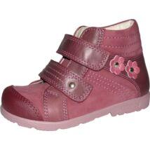 Szamos supinált átmeneti bőrcipő, mályva, virágos, 34.