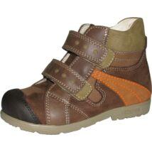 Szamos supinált átmeneti bőrcipő, barna-narancs, 19.