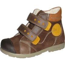 Szamos supinált átmeneti bőrcipő, barna-okker, 35.