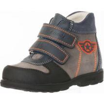 Szamos supinált átmeneti bőrcipő, szürke-narancs, 31-35.
