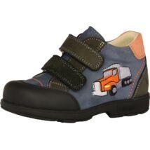 Szamos supinált átmeneti bőrcipő, kék-narancs, kamionos, 26, 28, 30.
