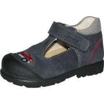 Szamos supinált, nyitott fiúcska cipő; sötétkék, autós, 19-24.