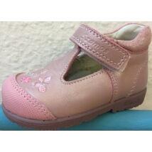 Szamos supinált, nyitott lányka cipő; rózsaszín, virágos, 19-24.