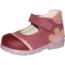 Szamos supinált, nyitott lányka cipő; mályva, virágos, 19-24.