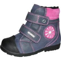 Szamos supinált, melegen bélelt bakancs vízálló Top Dry TEX réteggel, szürke-pink; 25-30.