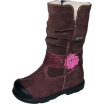 Szamos supinált téli gyerekcsizma szőrme béléssel és vízálló Top Dry TEX réteggel, bordó; 25-30.