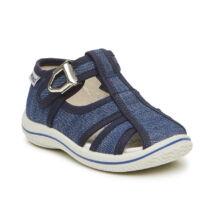Primigi nyitott vászoncipő csattal, bőr lépésbetéttel, farmerkék, 20-25.