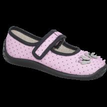 Zetpol vászon balerina cipő, rózsaszín, pöttyös, pillangós, 25-29.