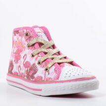Primigi magasszárú vászon tornacipő bőr lépésbetéttel, flamingós, az orrán strasszokkal, 27-31.