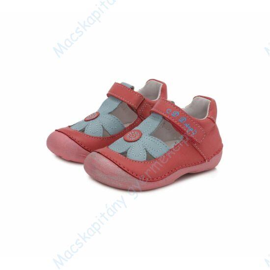 D.D.Step első lépés cipő, korall, virágos, 19-24.
