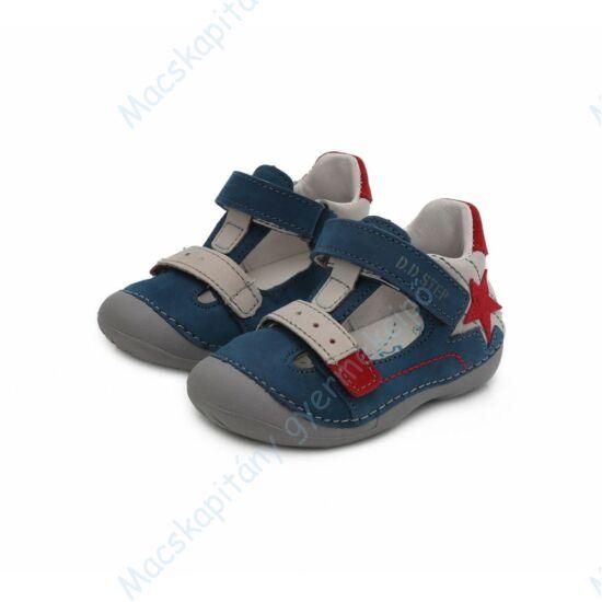 """D.D.Step """"barefoot"""" nyitott cipő, kék-fehér-piros, 19-24."""