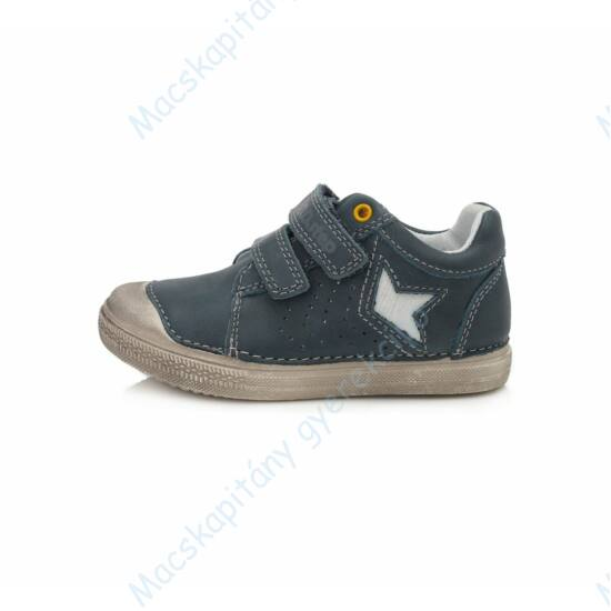 D.D.Step átmeneti  bőrcipő, acélkék, csillagos, 25-30.