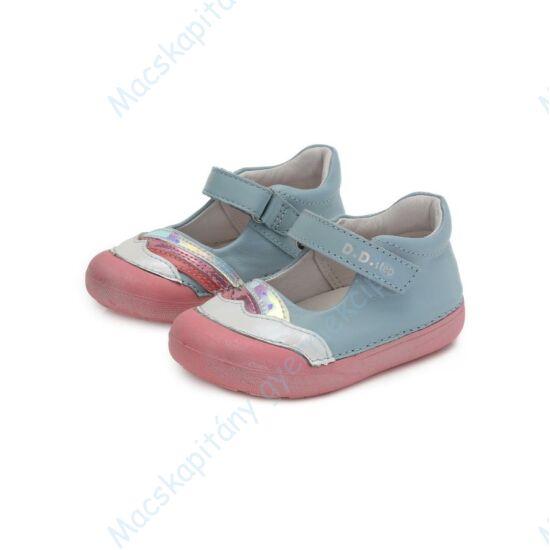 """D.D.Step """"barefoot"""" nyitott cipő, világoskék-fehér-rózsa, 19-24."""
