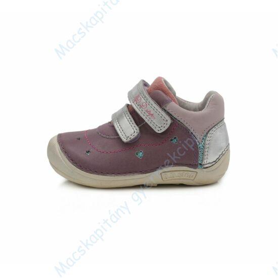 """D.D.Step """"barefoot"""" átmeneti cipő, levendula-ezüst, 19-24."""
