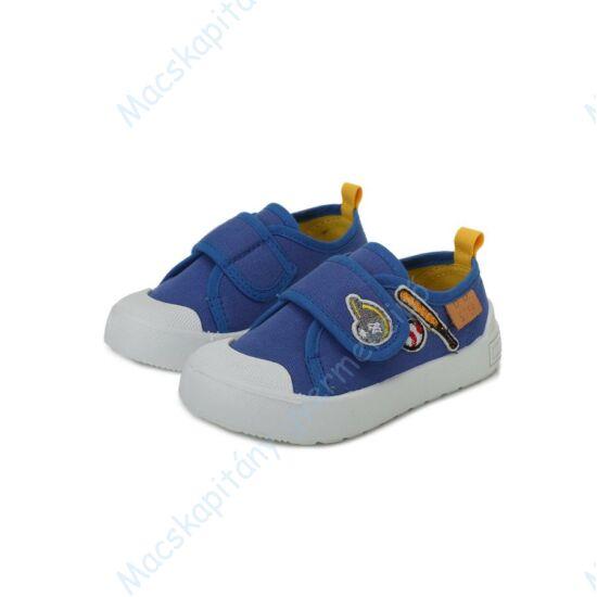 D.D.Step vászoncipő tépőzárral, kék, baseballos, 26-31.