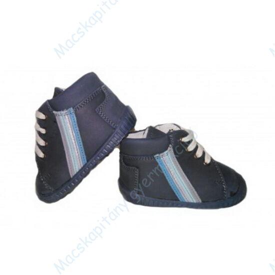 Maus első lépés cipő, sötétkék, csíkos.