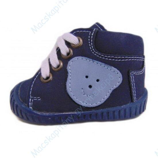 Maus első lépés cipő, sötétkék, macis.