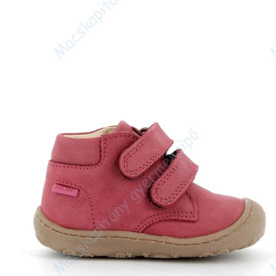 Primigi átmeneti bőrcipő két tépőzárral; bordó, nubuk, 20-24.Primigi átmeneti bőrcipő két tépőzárral; bordó, nubuk, 20-24.