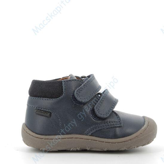 Primigi átmeneti bőrcipő két tépőzárral; sötétkék, szürke talppal, 20-24.