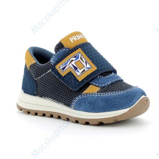 Primigi átmeneti cipő, tépőzáras, kék-mustár, 21-24.