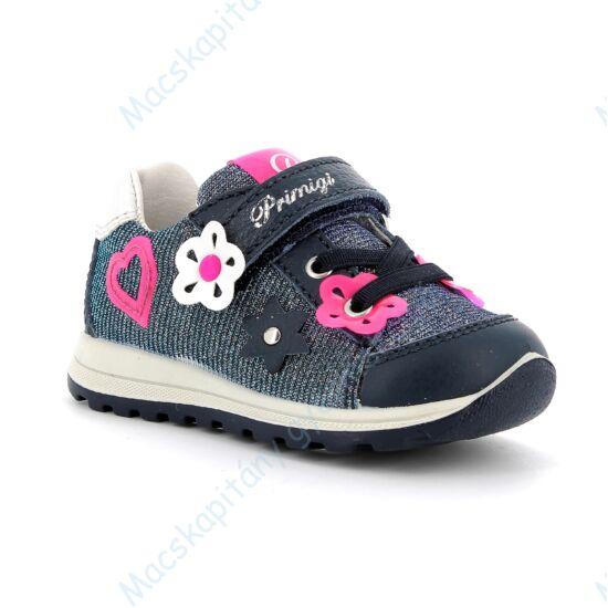 Primigi átmeneti cipő tépőzárral és elasztikus fűzővel, navy-pink, 21-26.