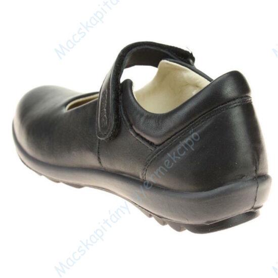 Primigi alkalmi bőrcipő lányoknak; tépőzáras, fekete, 31-38.