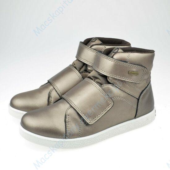 Primigi átmeneti bőrcipő, a Gore-tex membránnak köszönhetően teljesen vízálló; tépőzáras, antik arany, 31-35.
