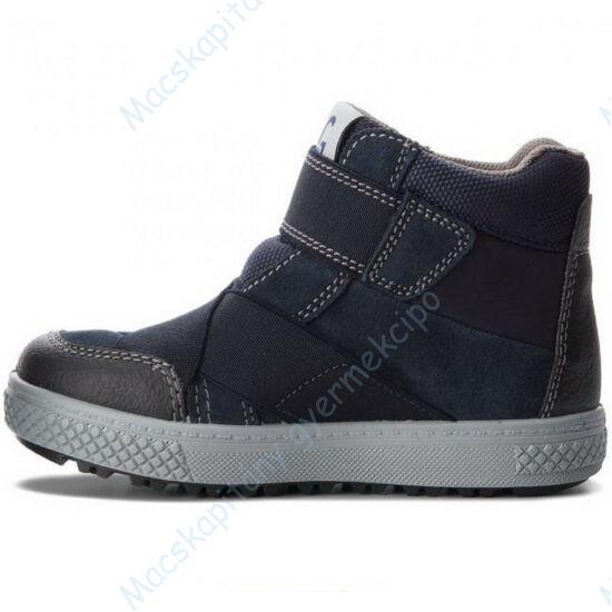Primigi Gore-tex téli-átmeneti bőrcipő, teljesen vízálló; tépőzáras, sötétkék, 31-35.